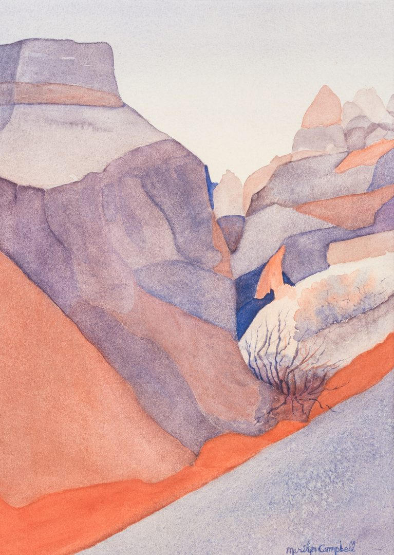 Lot 436: Marilyn Campbell, 2 Western Watercolors