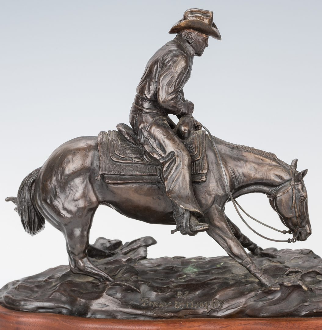 Lot 437: Terry J. Murphy Western Bronze