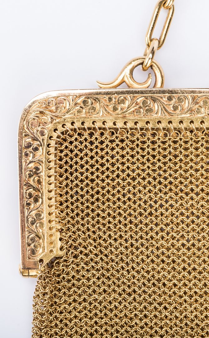 Lot 43: 18K Gold Mesh Purse, 207 grams