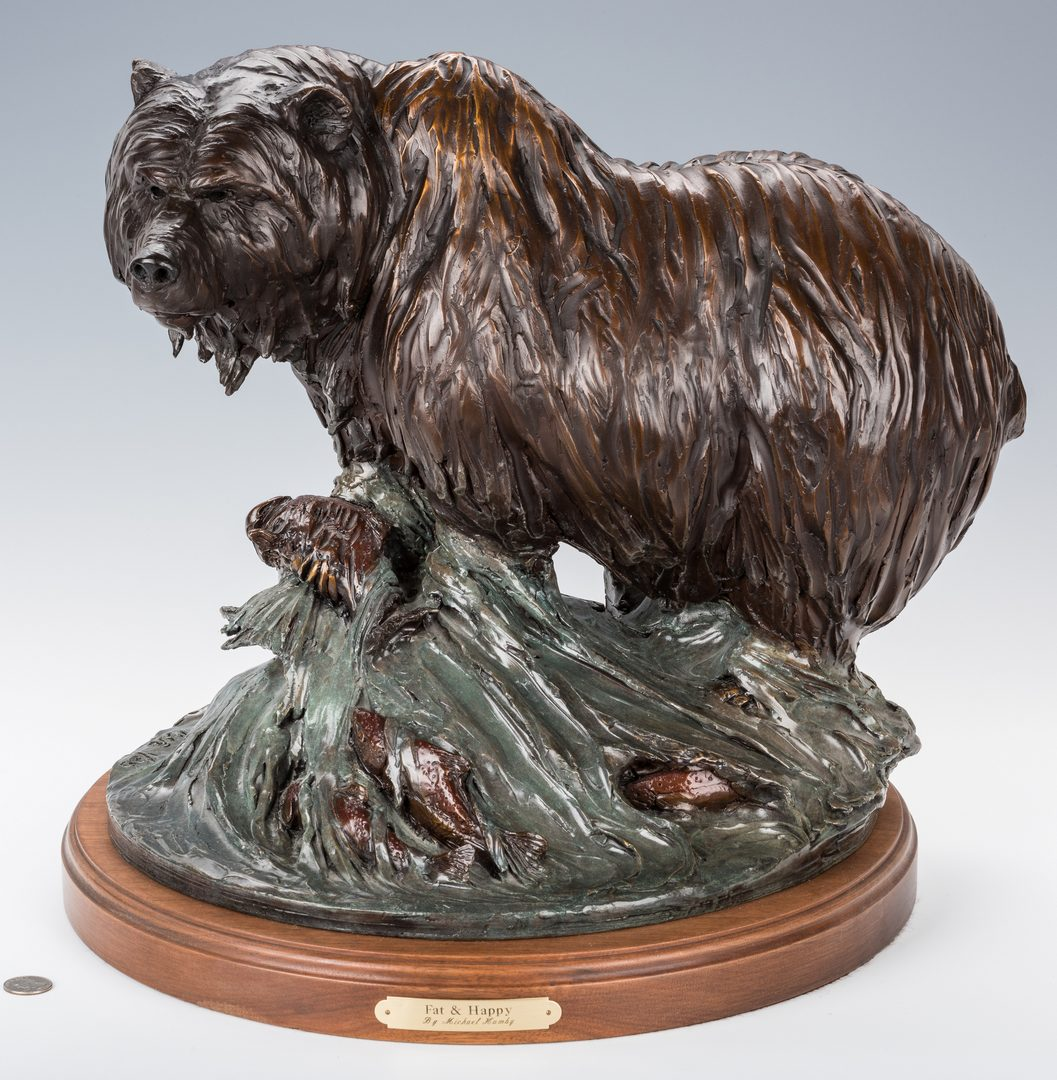 Lot 440: Michael Hamby Bronze Bear Sculpture