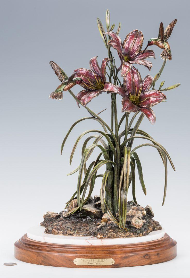 """Lot 441: Frank Divita Bronze Sculpture, """"Summer Lilies"""""""