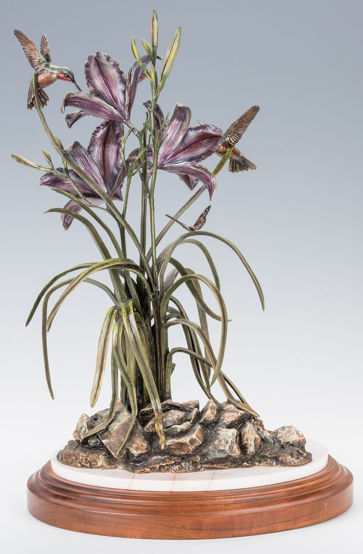 "Lot 441: Frank Divita Bronze Sculpture, ""Summer Lilies"""