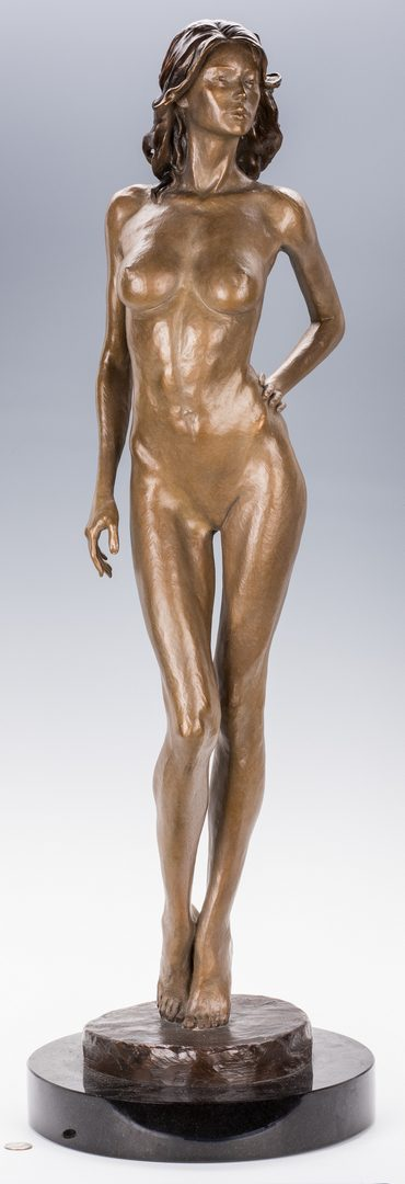 Lot 443: Victor Issa Bronze Nude Sculpture