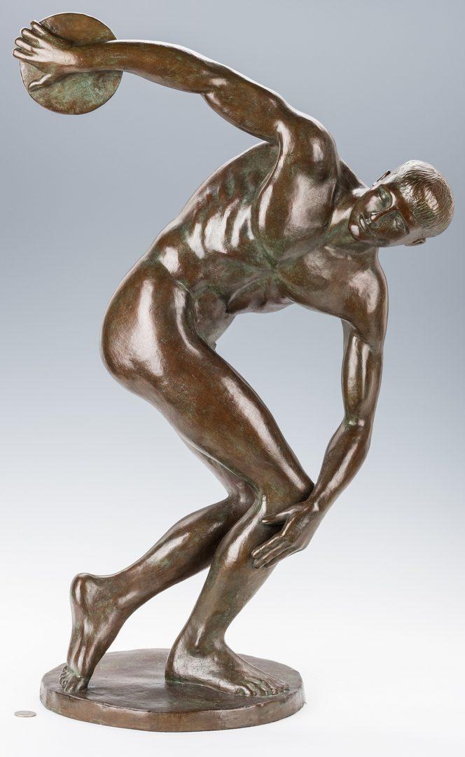 Lot 444: Felix de Weldon Bronze, Discus Thrower