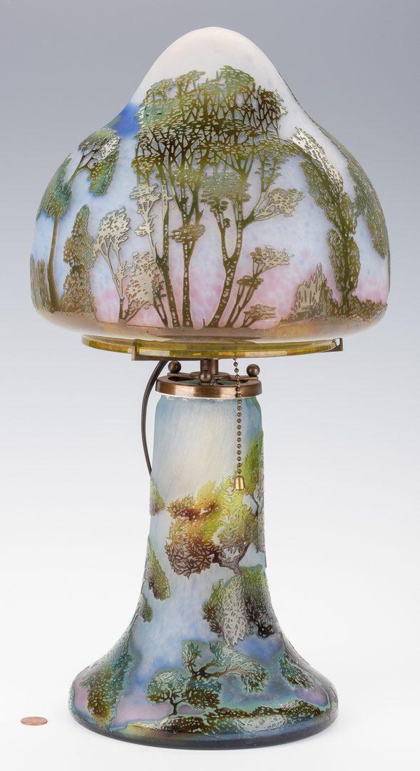 Lot 447: Lorrain Art Glass Lamp