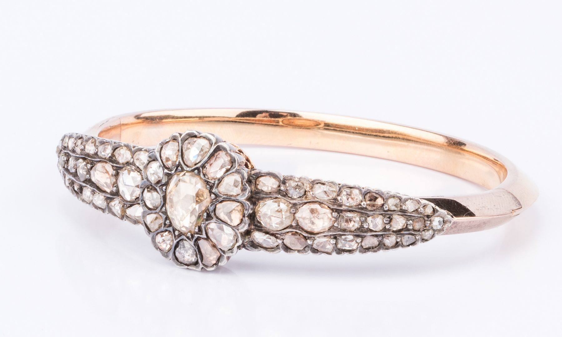 Lot 44: Late Georgian 18K Diamond Bangle
