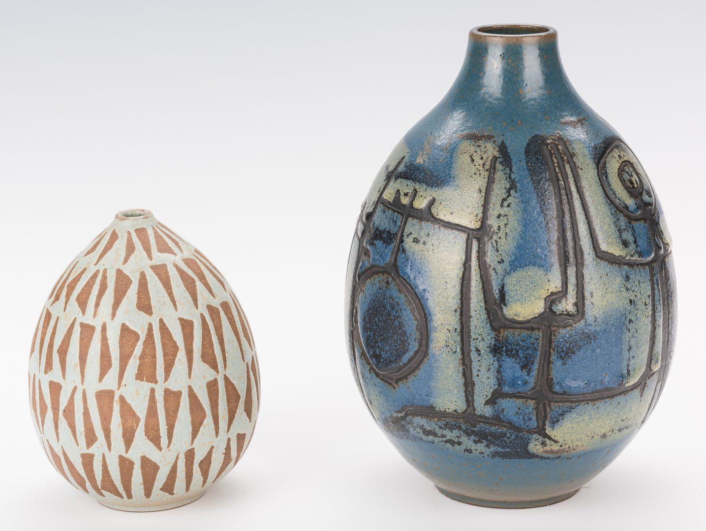 Lot 453: Group 3 Clyde Burt Art Pottery Items