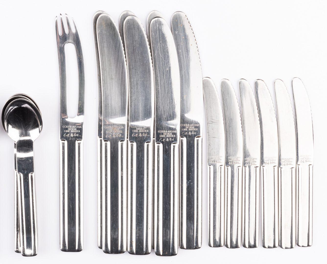 Lot 454: Carl Aubock Culinar Flatware, 40 pcs.