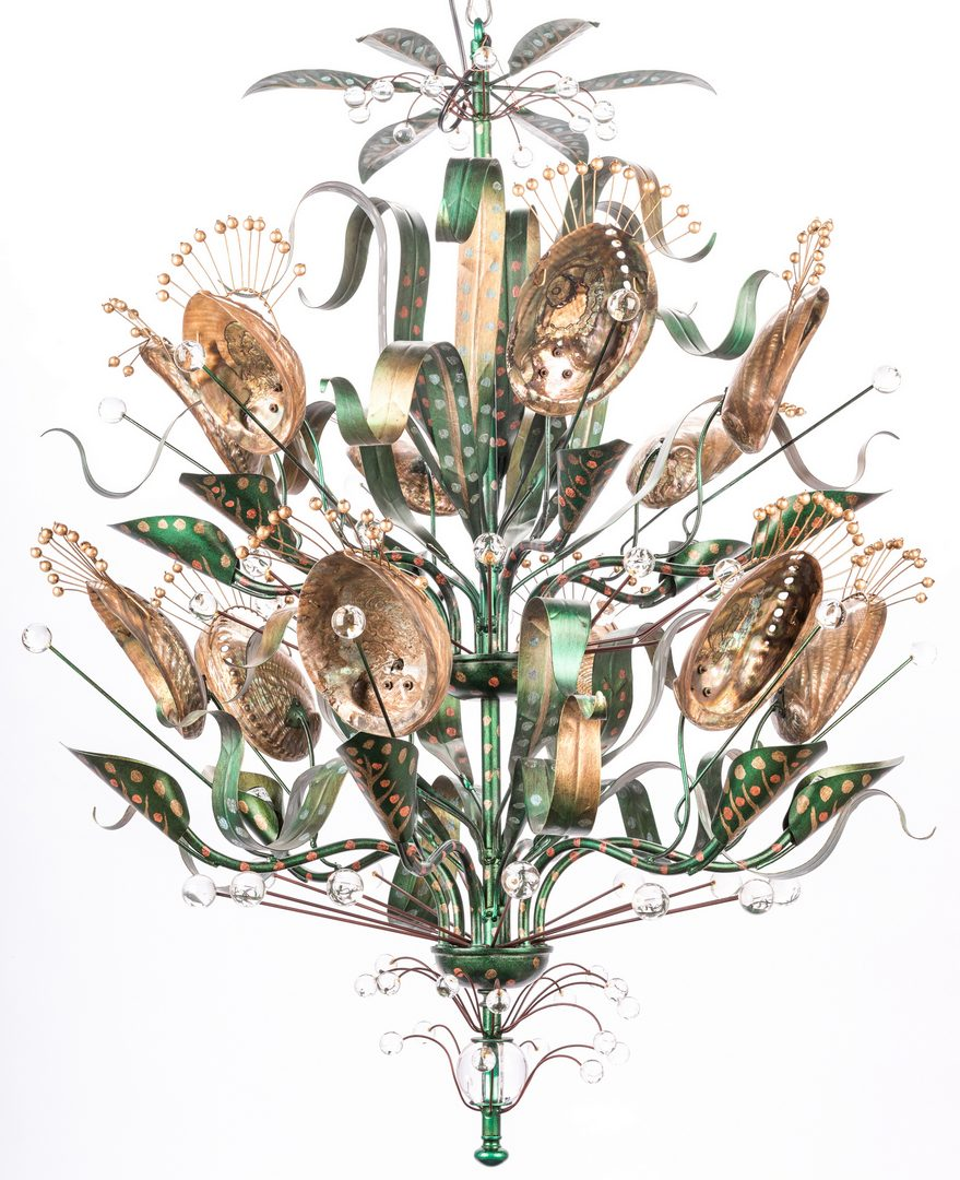 Lot 455: Baker Abalone Chandelier, Tony Duquette