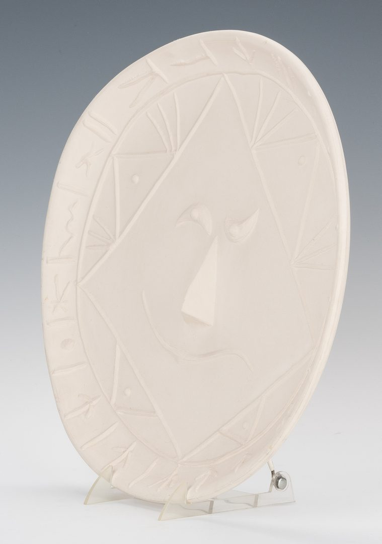"Lot 457: Pablo Picasso ""Visage"" Ceramic Plate"