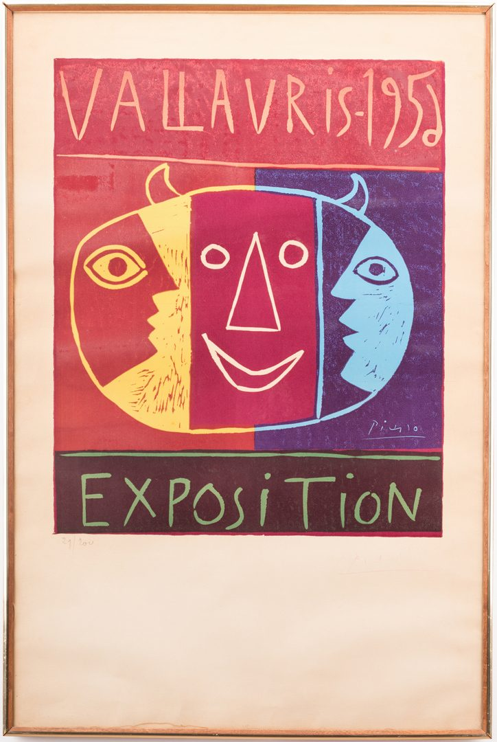 Lot 458: Picasso Signed Exhibition Poster