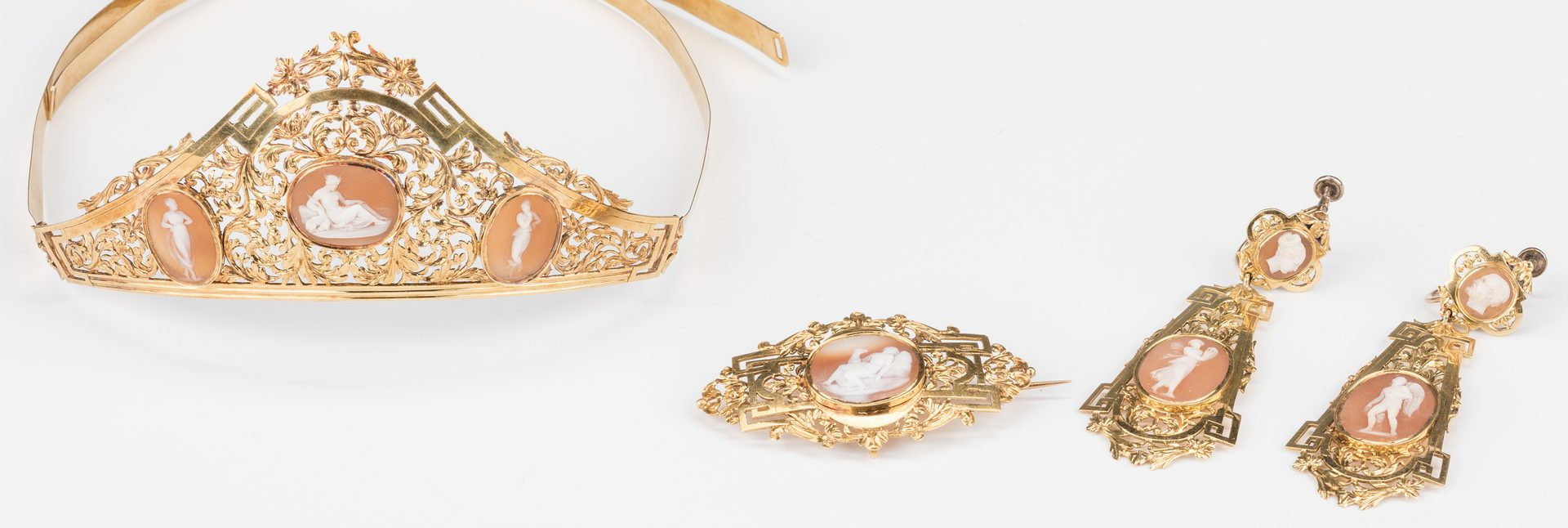 Lot 45: Gold and Shell Cameo Parure Circa 1810