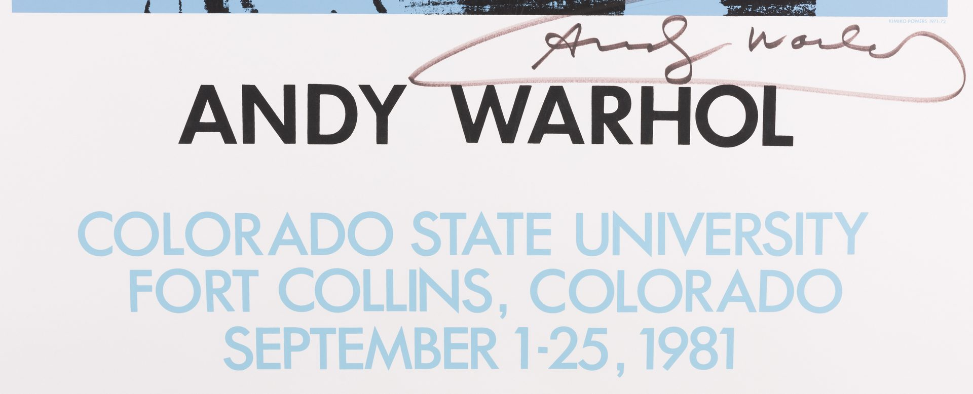Lot 460: Andy Warhol Signed Poster