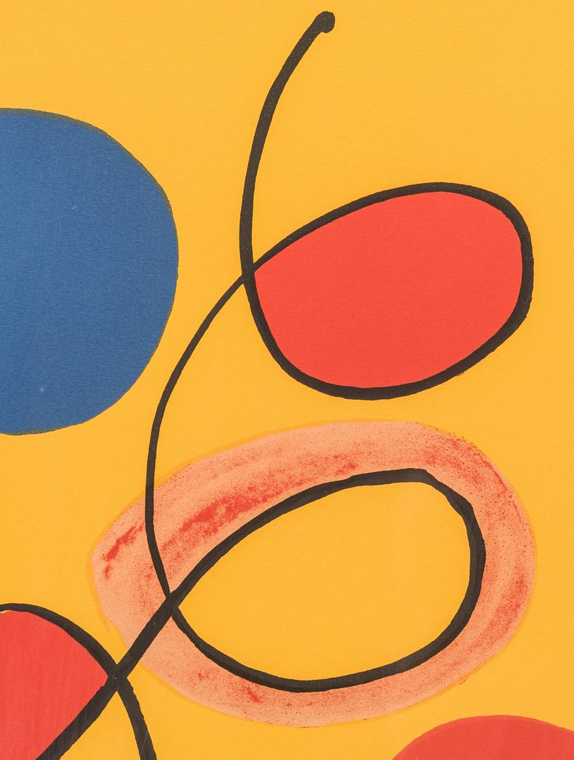 Lot 461: Alexander Calder Signed Print, Tapestry