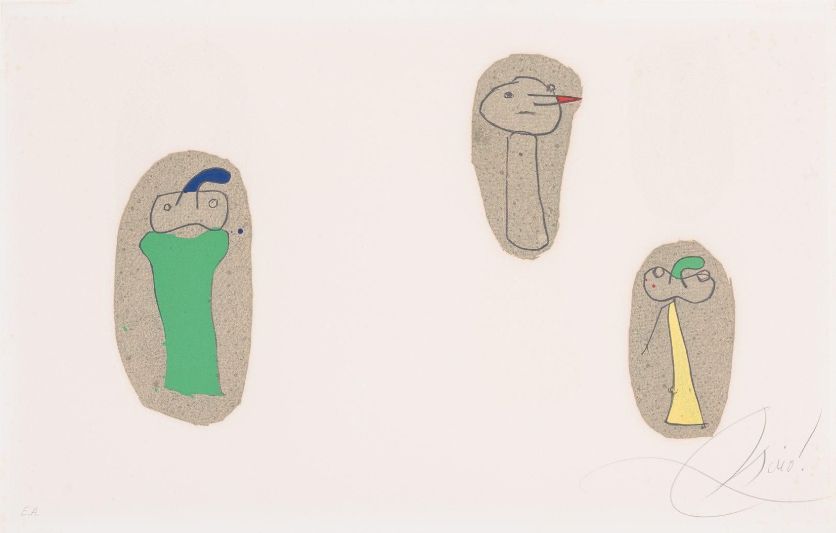 Lot 463: Signed Joan Miro Lithograph, L'Enfance d'Ubu