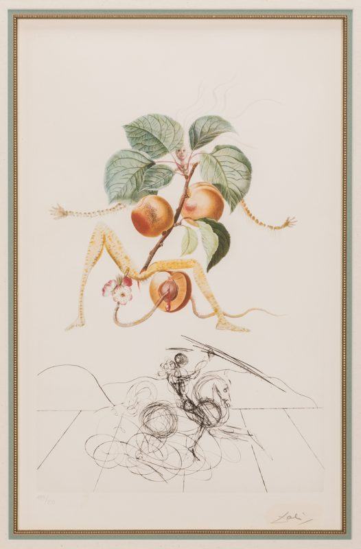 Lot 464: Salvador Dali Apricot Chevalier Litho