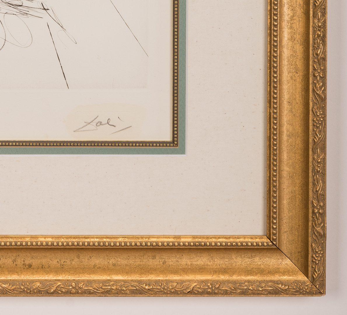 Lot 464: Salvador Dali Apricot Chevalier Litho