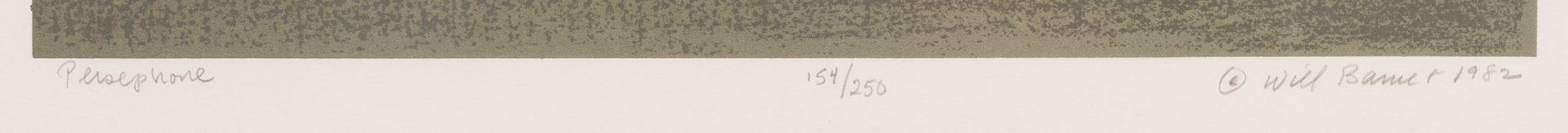Lot 465: Will Barnet Screenprint, Persephone