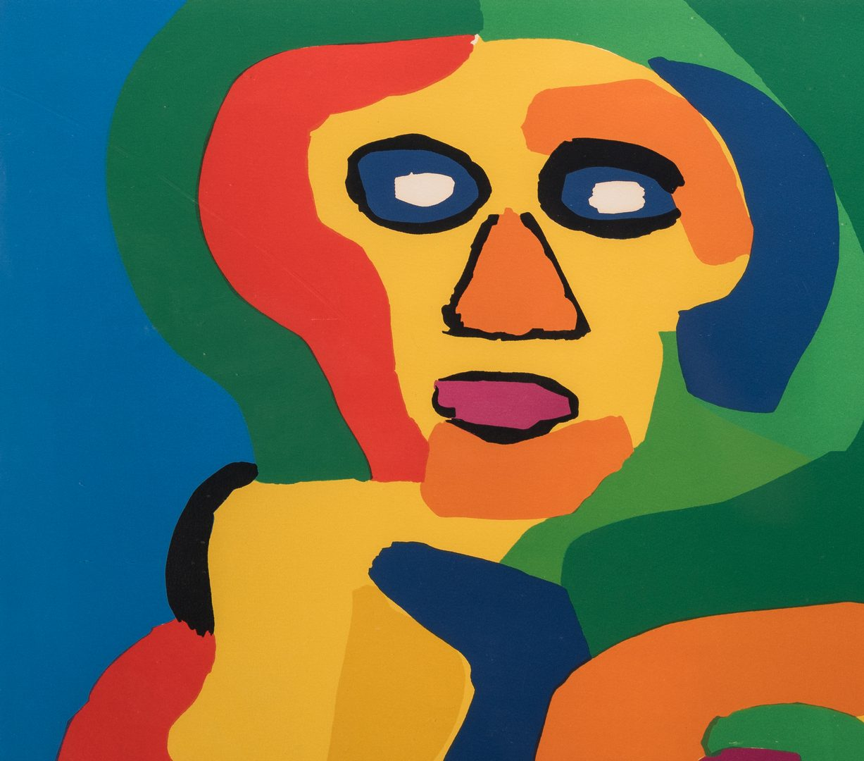 Lot 466: Karel Appel Serigraph, Two Faces, 1974