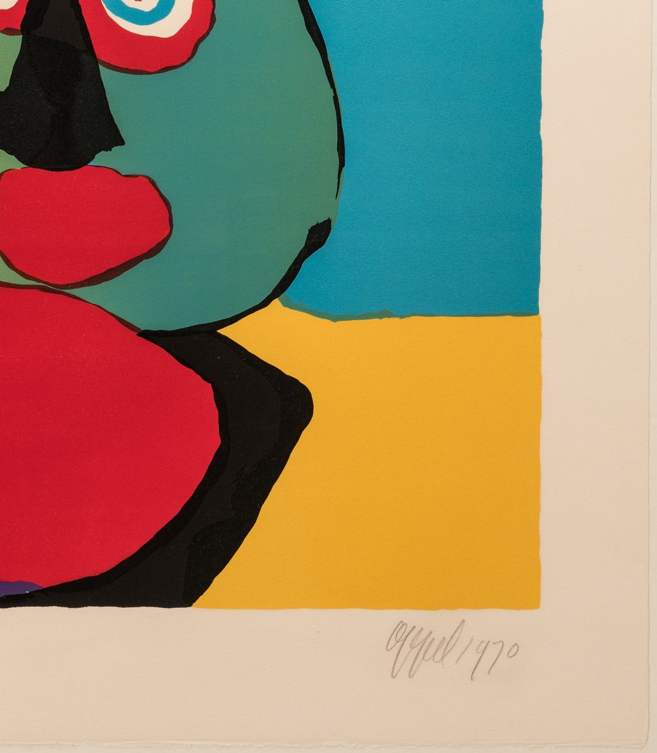 Lot 467: Karel Appel signed litho,  What Are They Waiting For