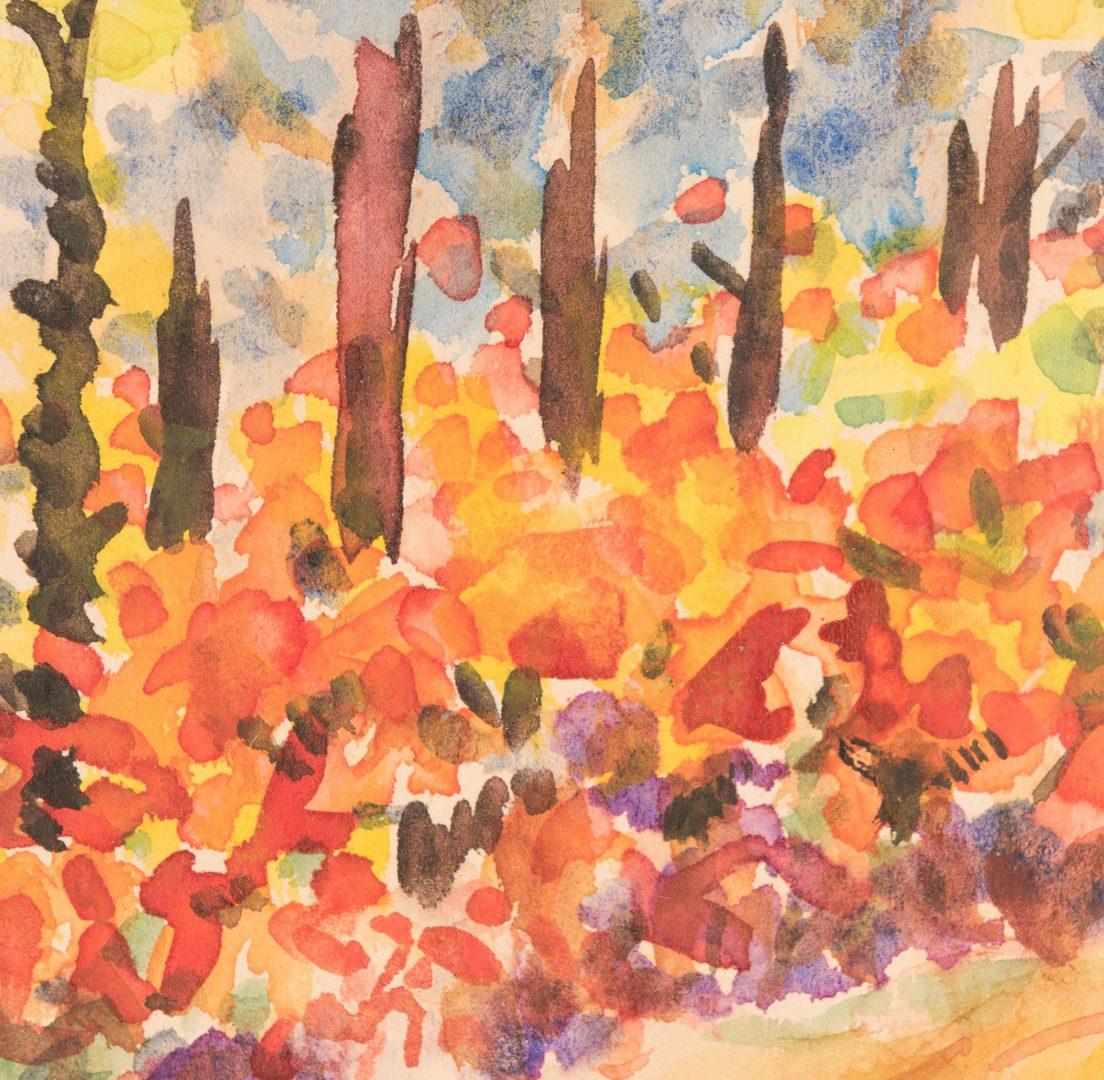 Lot 472: 2 Miklos Farkashazy Watercolor Paintings