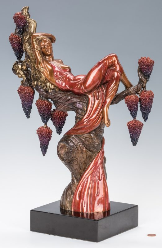 Lot 473: Erte Bronze Sculpture, Heat
