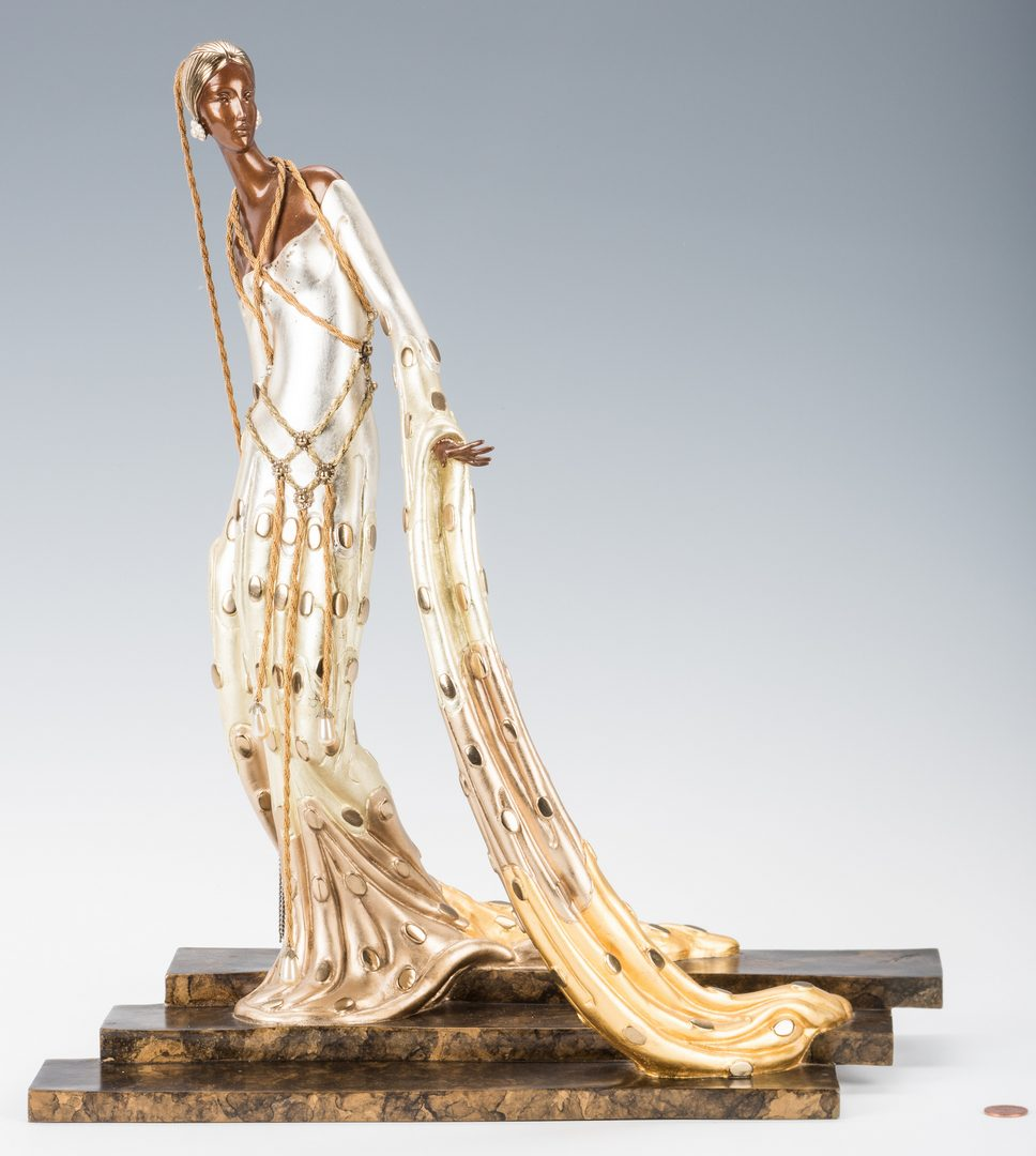 Lot 474: Erte Bronze Sculpture, Melisande