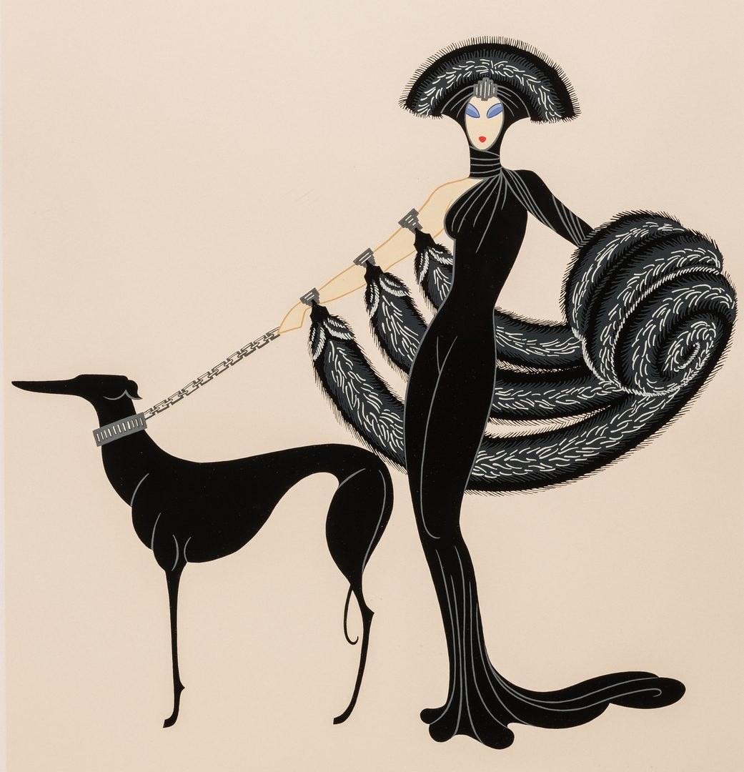 "Lot 477: Erte Serigraph, ""Symphony in Black"""