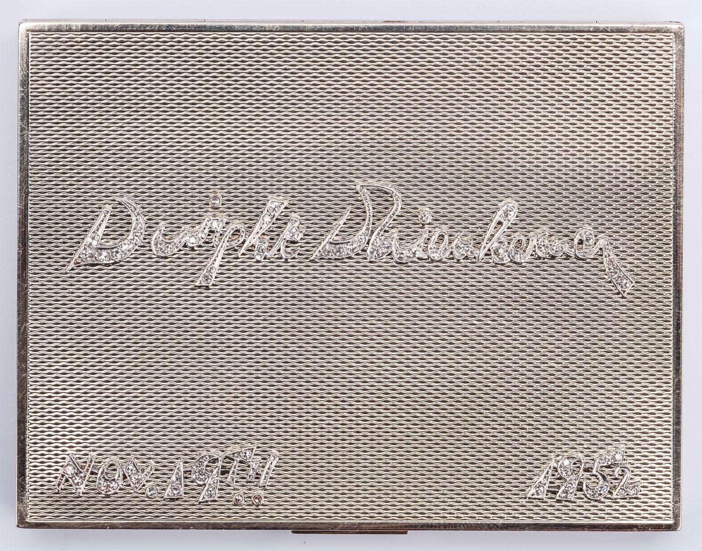 Lot 47: 14K Plat. Dwight Eisenhower Presentation Gift
