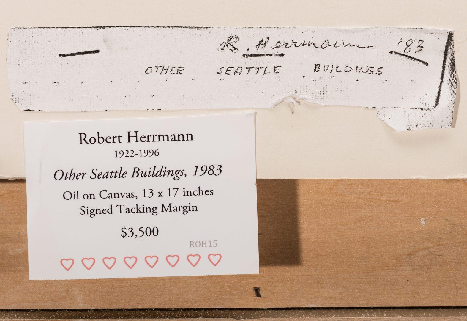 "Lot 480: Robert Herrmann, O/C, ""Other Seattle Buildings"""