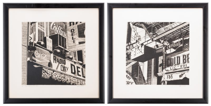 Lot 481: 2 Robert Cottingham Lithographs