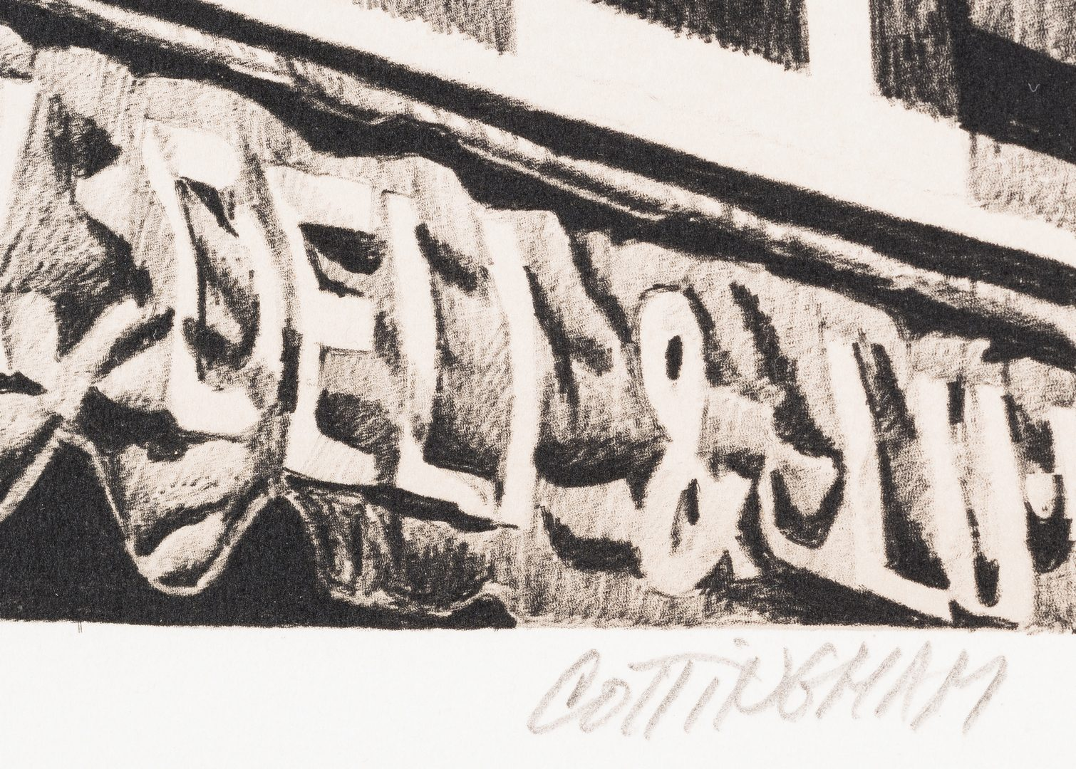 Lot 481: 2 Robert Cottingham Lithographs