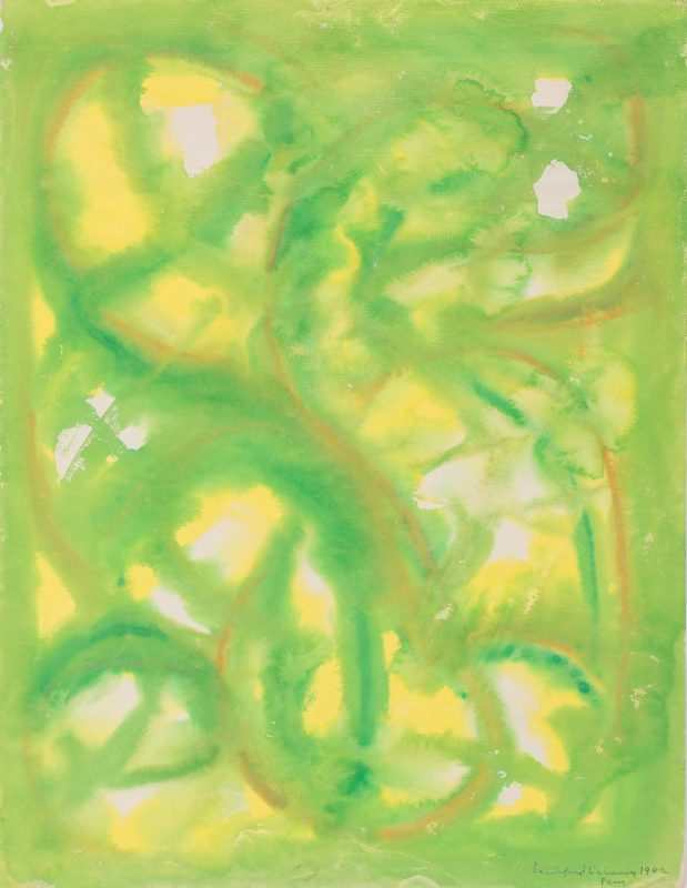 Lot 485: Beauford Delaney Estate, Abstract on Paper No. 313