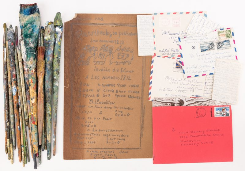 Lot 487: Archive of Beauford Delaney Letters and Related Objects