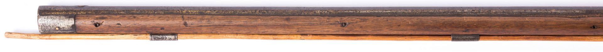 Lot 494: Solomon Reed Full Stock Percussion Long Rifle, .40 Cal.
