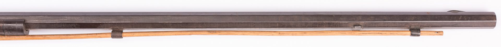 Lot 495: East Tennessee Half Stock Percussion Rifle, .38 Cal.