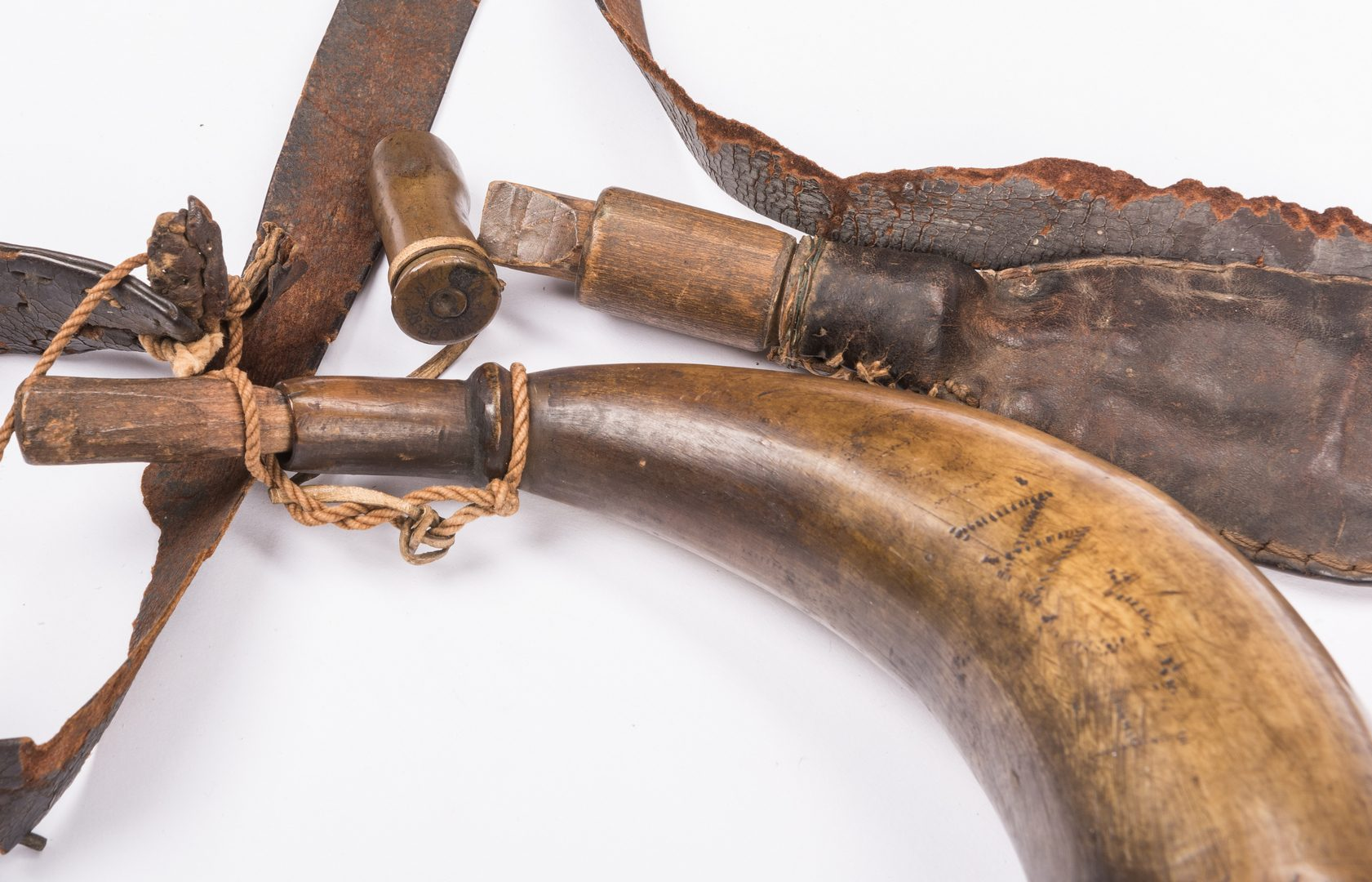 Lot 497: Union County, TN Leather Hunting Gear, 3 items