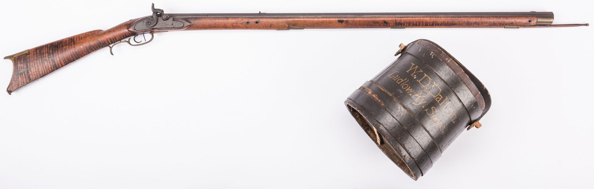 Lot 498: Kentucky Long Rifle and Advertising Bucket