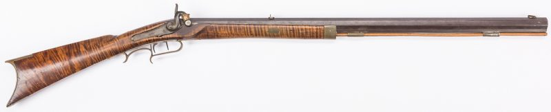 Lot 499: Percussion Half Stock Rifle, .30 Cal., Possibly Southern
