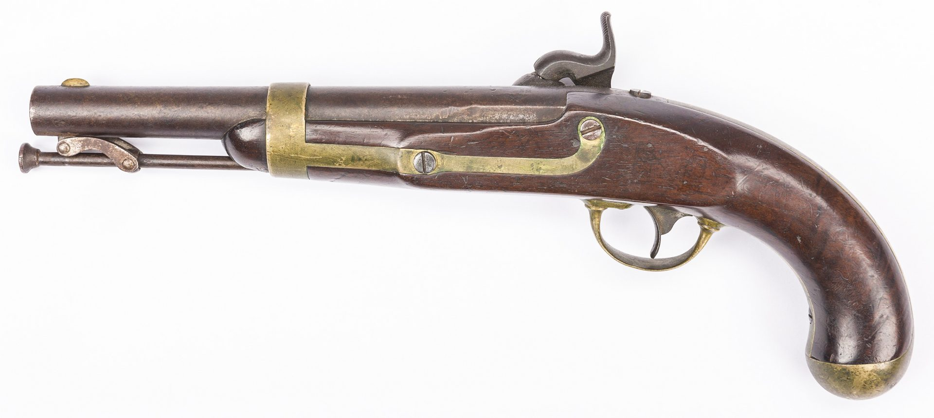 Lot 501: U.S. Henry Aston Model 1842 Percussion Pistol