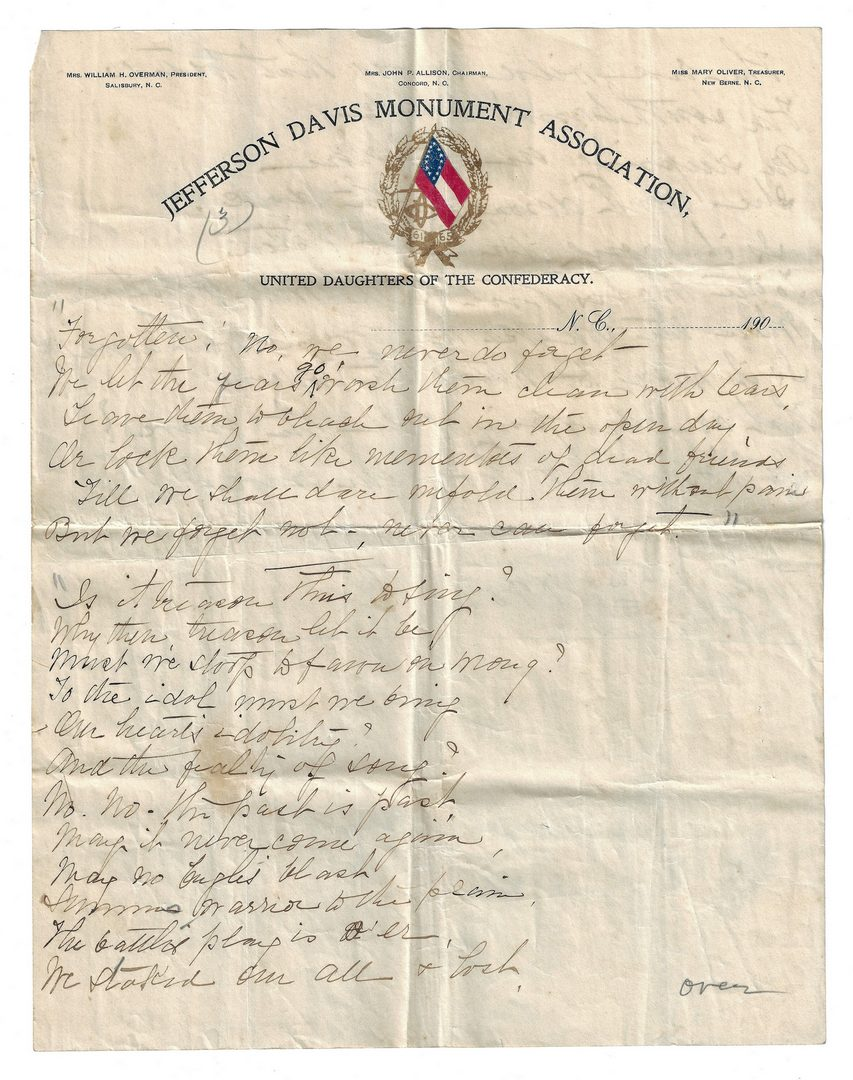 Lot 508: Craige Family, N.C. archive, inc. Civil War, 75 plus items