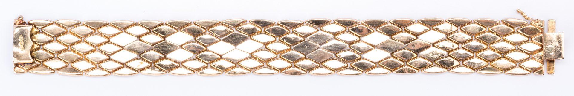 Lot 50: 18K Italian Gold Bracelet
