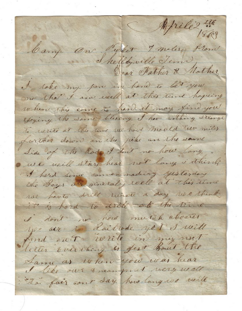 Lot 510: Confederate Capt. Camillus B. Huggins Murfreesboro TN Civil War Archive