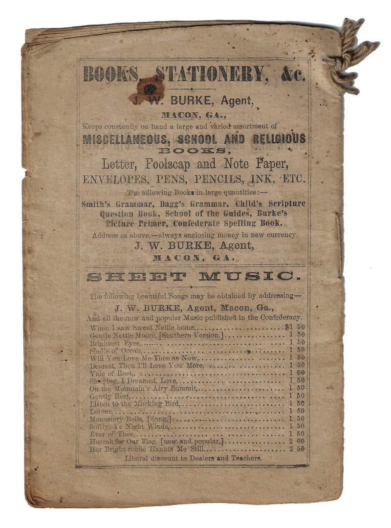 Lot 526: 9 Almanacs & Songsters, inc. Confederate Imprints