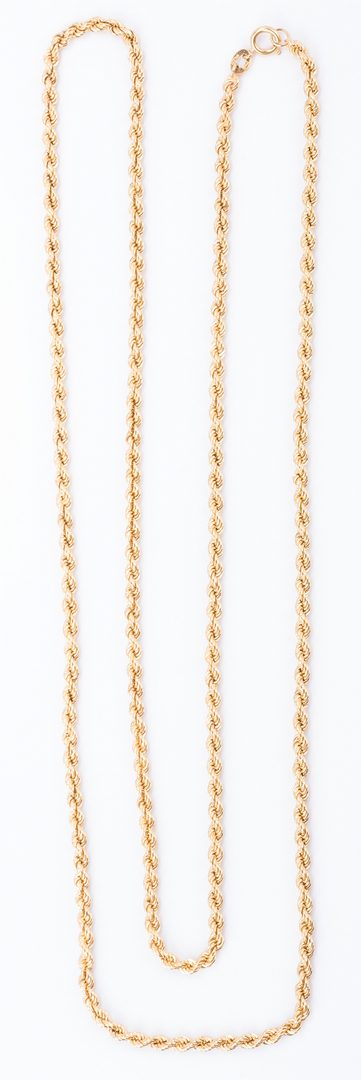 "Lot 52: 18K Italian 34-3/4"" rope chain, 43.4 gr."