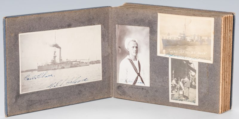 Lot 533: WWI Photo album inc. SMS Emden