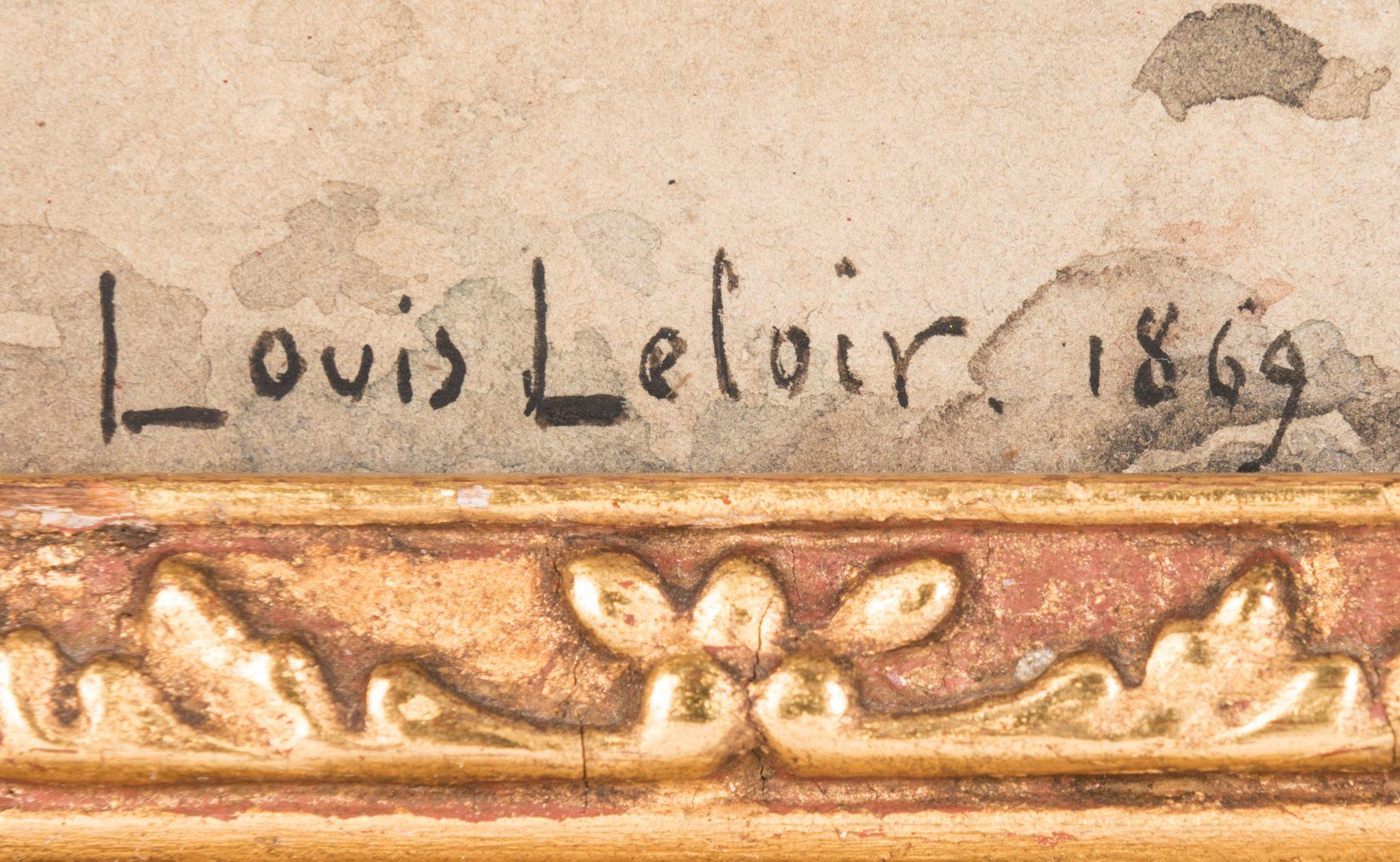 Lot 535: Alexandre Louis Leloir, Watercolor of Spanish Soliders