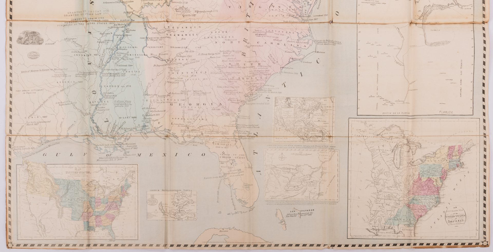 Lot 537: Historical Map Of The United States, R. Blanchard, 1876