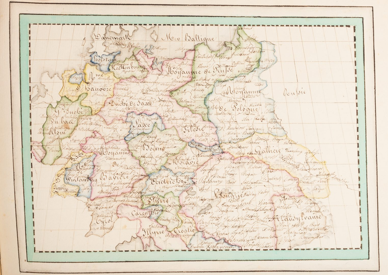 "Lot 539: ""Atlas Geographique Fair par Sophie de Baure"" Manuscript Map Book"