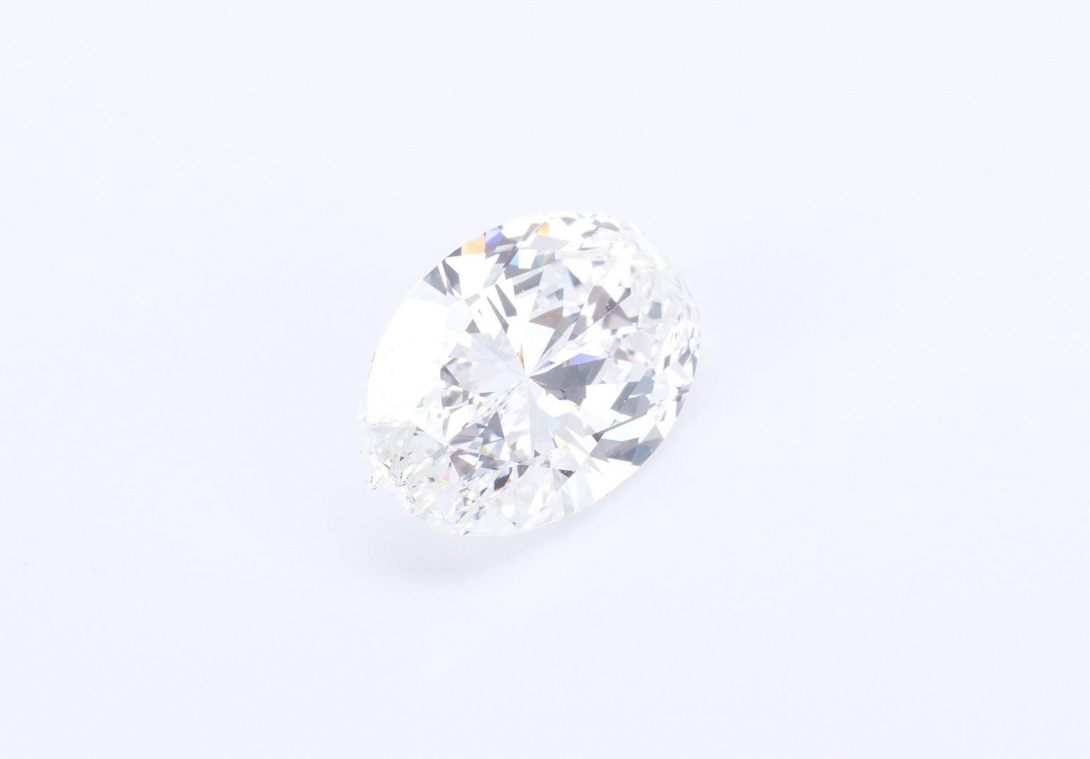 Lot 53: 3.13 ct Oval Brilliant Diamond, GIA Report